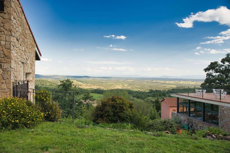 Vista del valle desde Las Casas Rurales de Agapito